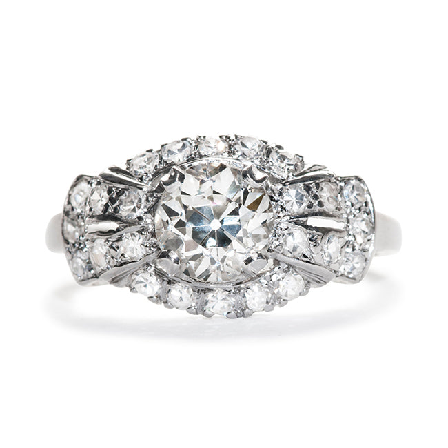 princeton art deco engagement ring