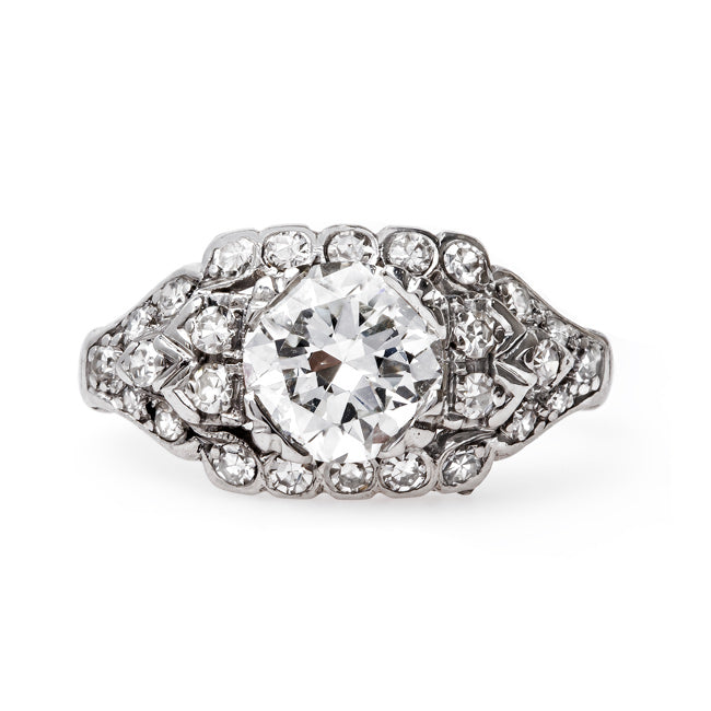 Dazzling Art Deco Platinum Engagement Ring | French Quarter from Trumpet & Horn