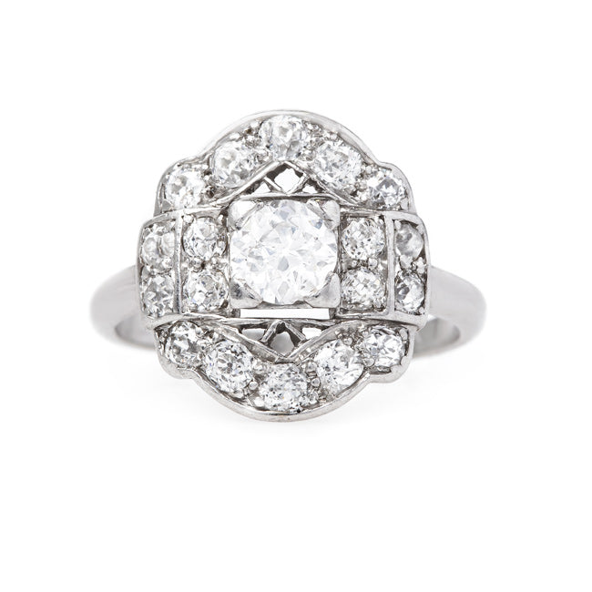 Unique Art Deco Cluster Ring | Edelman from Trumpet & Horn