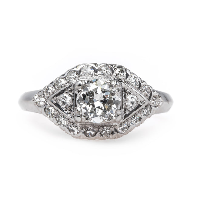 Classic Platinum and Diamond Art Deco Engagement Ring | Bromley from Trumpet & Horn