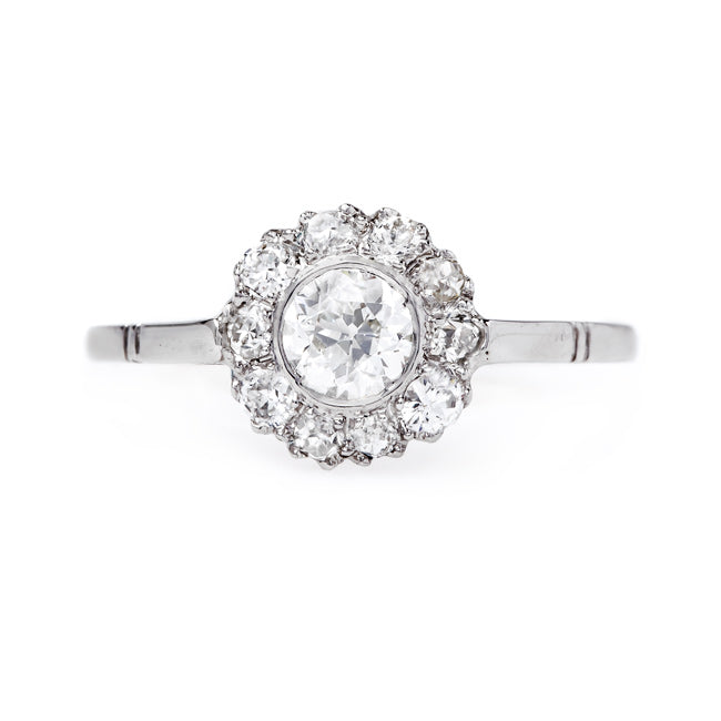 Impeccable Platinum Cluster Ring | Hallworth from Trumpet & Horn