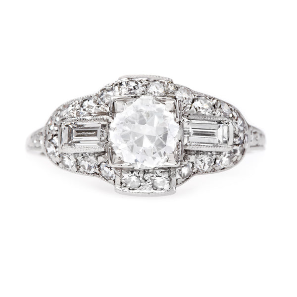 Exceptionally White Diamond Art Deco Ring | Colchester from Trumpet & Horn