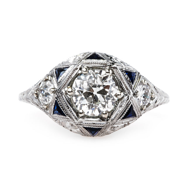Art Deco Ring with Immaculate Detail | Palm Harbor from Trumpet & Horn