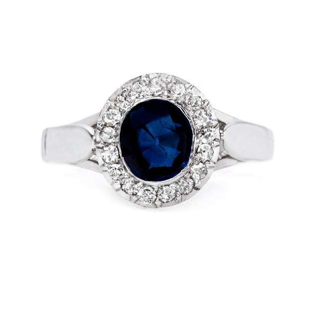 One-of-a-Kind Late Art Deco Sapphire Ring | Peninsula Way from Trumpet & Horn