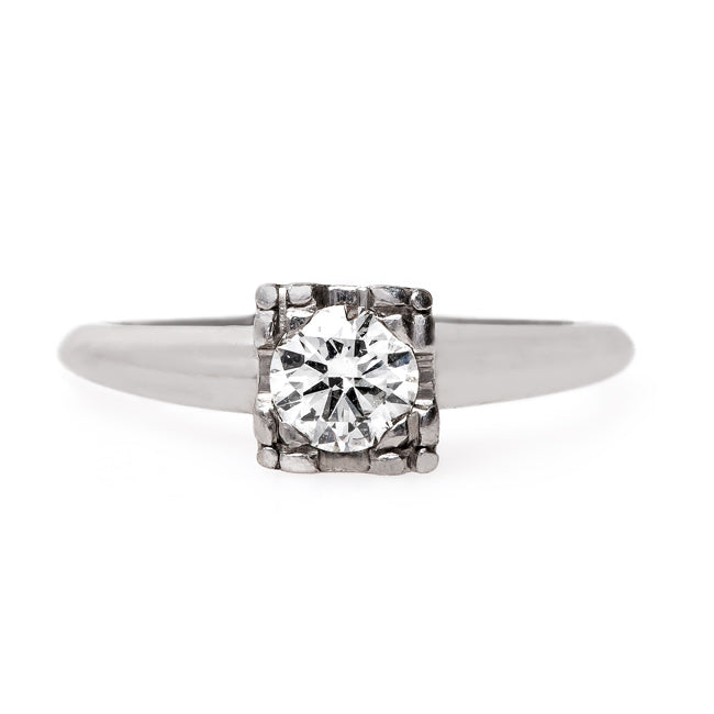 Timeless Late Art Deco Solitaire Engagement Ring | Thornbury from Trumpet & Horn