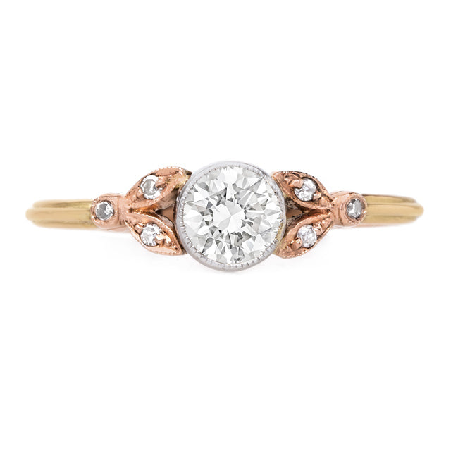 Lovely Bezel Set Diamond Ring with Milgrained Edges | Ridgeland from Trumpet & Horn