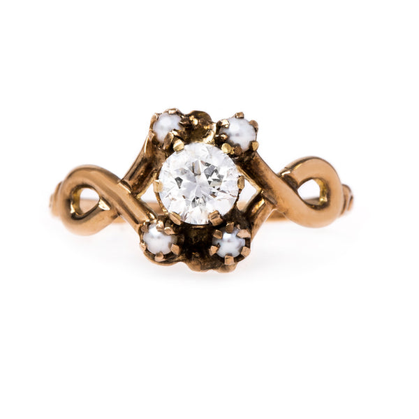 Dainty Vintage Art Nouveau Seed Pearl Ring | Chadwick from Trumpet & Horn