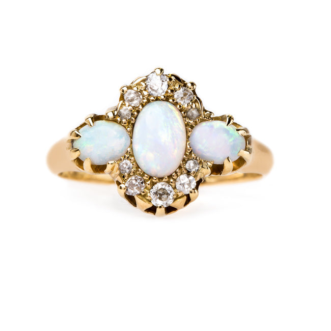 Art Nouveau Opal and Diamond Ring | Featherstone from Trumpet & Horn