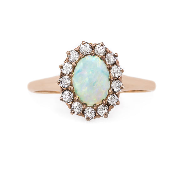 Sweet and Romantic Victorian Opal and Diamond Ring | Goldenrod from Trumpet & Horn