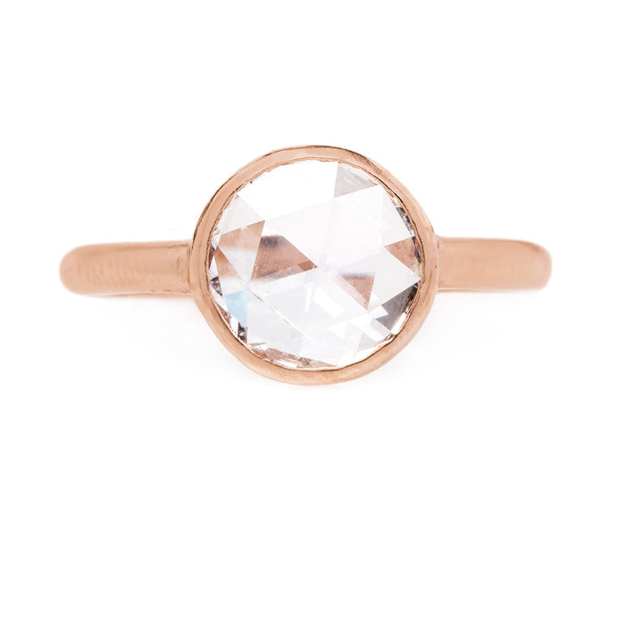 Eco-Friendly Rose Cut Diamond Solitaire Ring | Capri from Trumpet & Horn