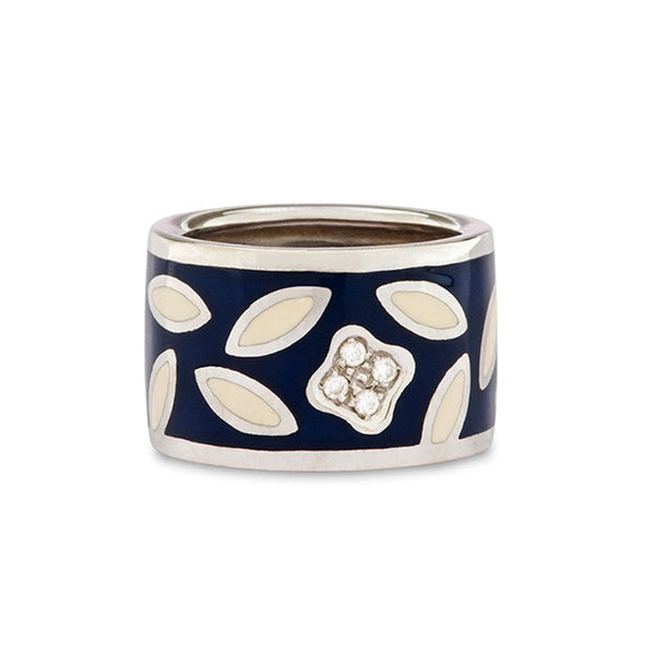 Nouvelle Bague Enamel & Diamond Ring