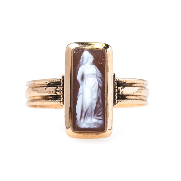 Victorian Era Rose Gold Cameo Ring | Cranston from Trumpet & Horn
