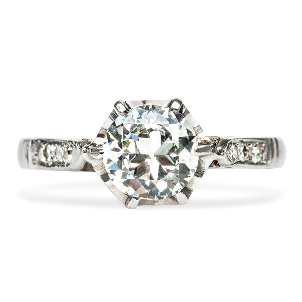 Vintage Classic Solitaire Diamond Engagement Ring
