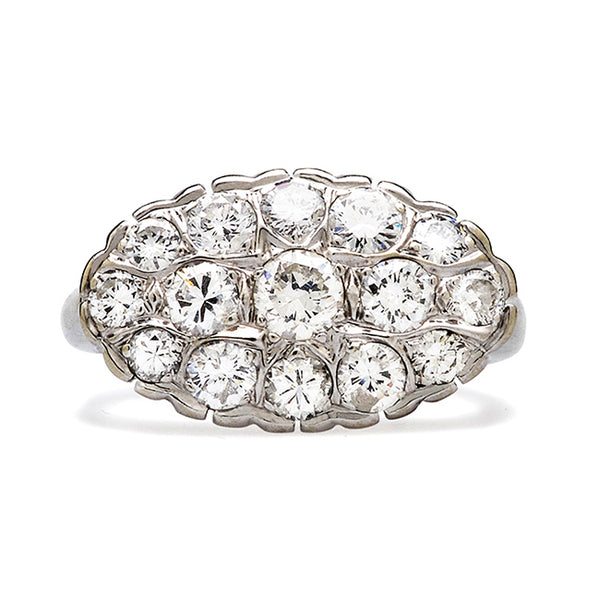 blackstone diamond cluster ring