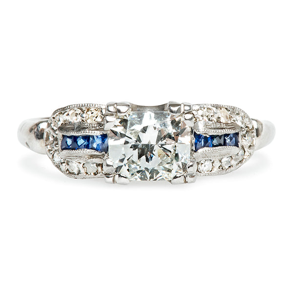 Kimmswick Vintage Sapphire Diamond Engagement Ring from Trumpet & Horn
