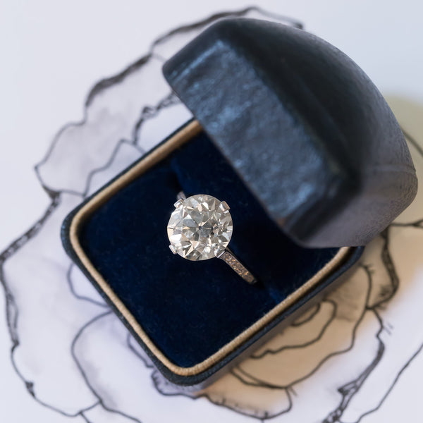 Show-Stopping Edwardian Solitaire with Sizable Diamond | Lucerne from Trumpet & Horn
