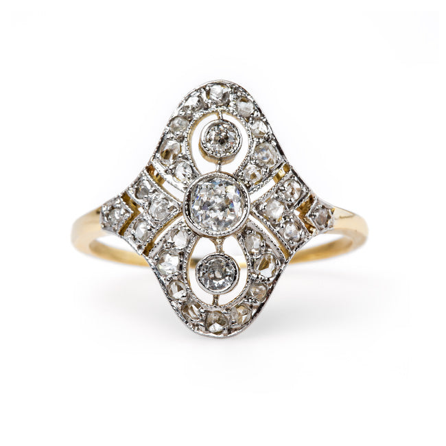 Delicate Edwardian Navette Style Ring | Hansberry from Trumpet & Horn