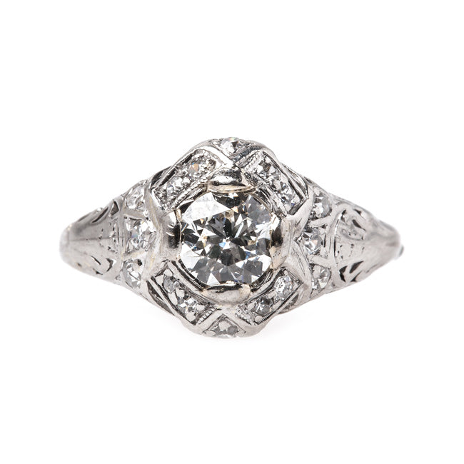 Lovely Edwardian Era Platinum Engagement Ring | Aberdeen from Trumpet & Horn