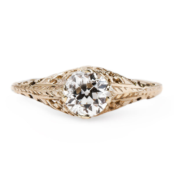 Elegant Edwardian Solitaire Ring | Blackford from Trumpet & Horn