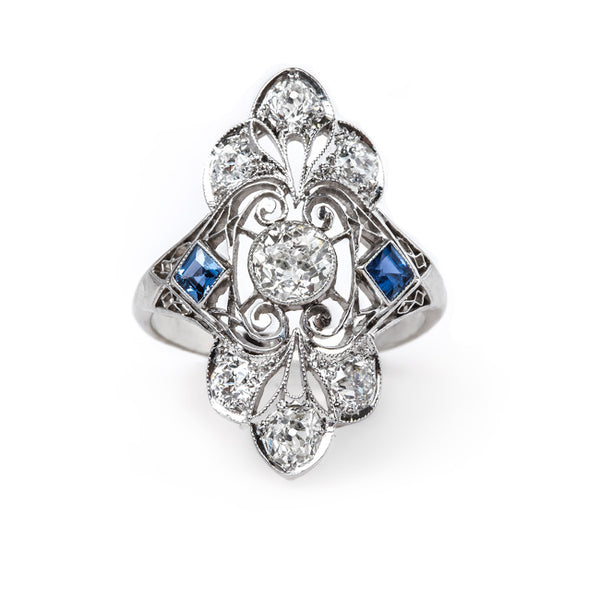 Ornate Edwardian Navette Ring | Pacific Grove from Trumpet & Horn
