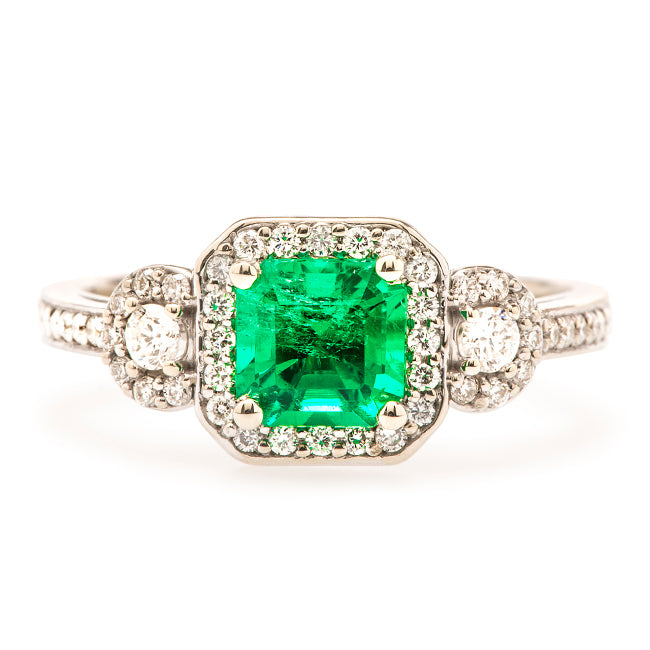 forestville emerald vintage ring