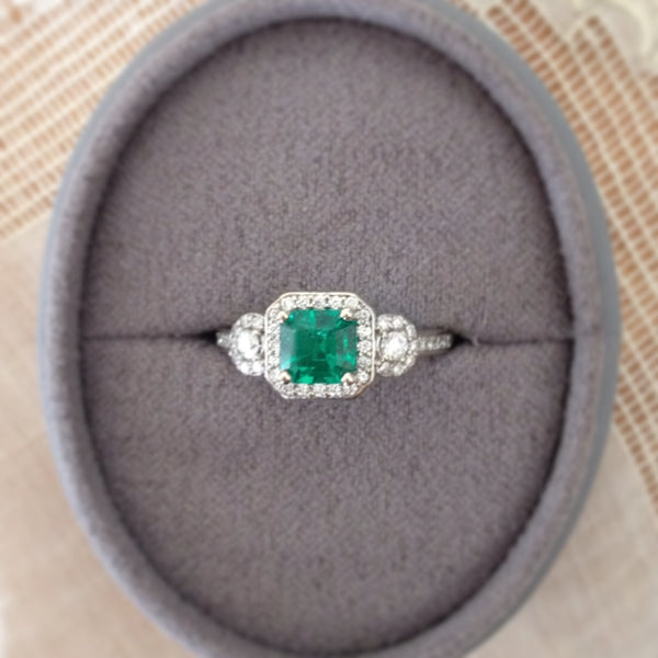 forestville halo engagement rings