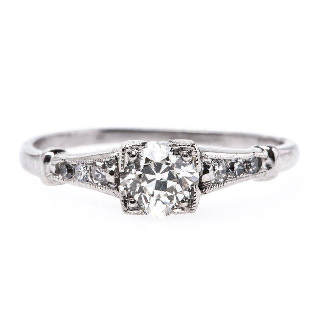 Refined and Timeless Art Deco Platinum Engagement Ring | Gunnersbury from Trumpet & Horn