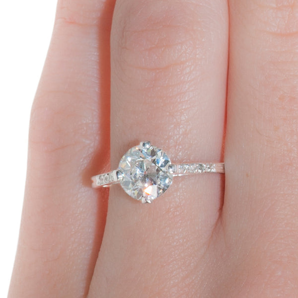 Vintage Diamond Engagement Ring | Art Deco Diamond Wedding Ring |