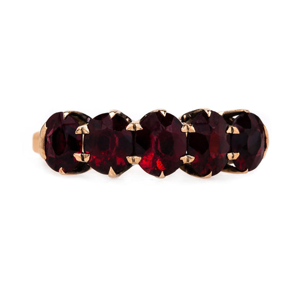 Charming and Authentic Antique Garnet Ring | Vaynor from Trumpet & Horn