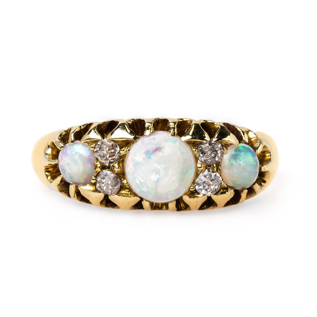 Dazzling Victorian Opal and Diamond Ring | Coventry from Trumpet & Horn
