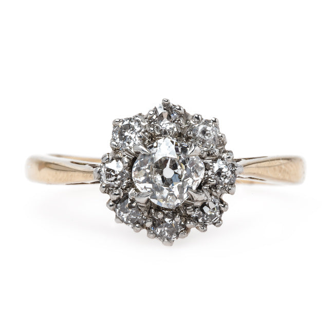 Exquisite Victorian Era Cluster Engagement Ring | Venice from Trumpet & Horn