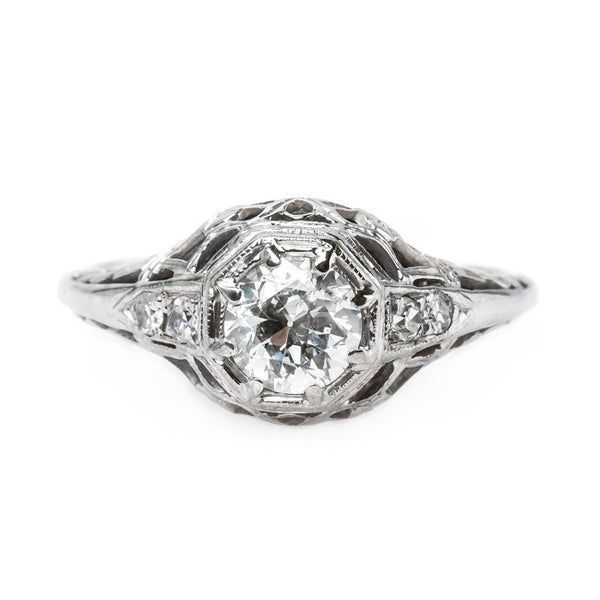 Authentic Edwardian Era Diamond Engagement Ring | Newington from Trumpet & Horn