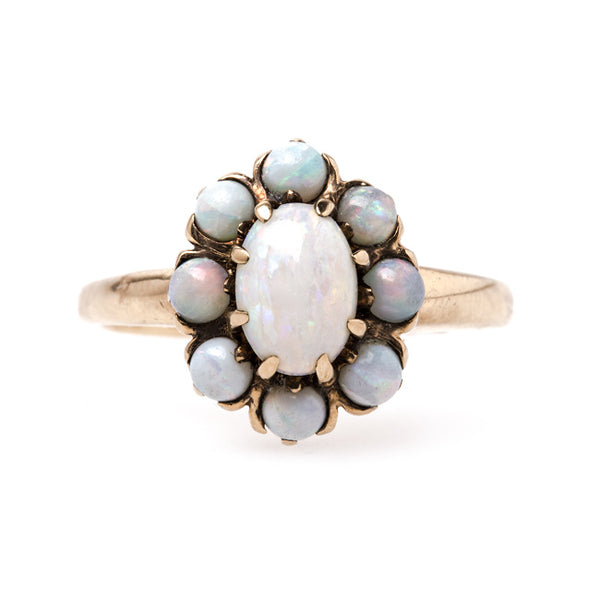 Whimsical Victorian Era Floral Opal Ring | Crystal Lake from Trumpet & Horn
