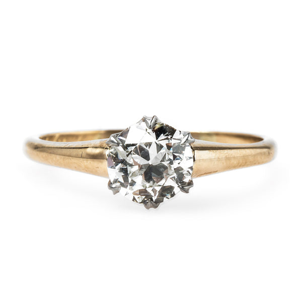 Charming Victorian Era Yellow Gold Solitaire Engagement Ring | Lorena Lane from Trumpet & Horn