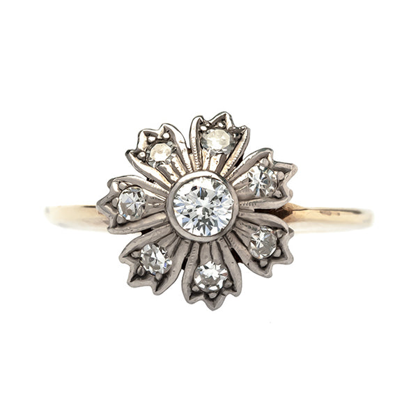 Goldwater vintage flower ring from Trumpet & Horn