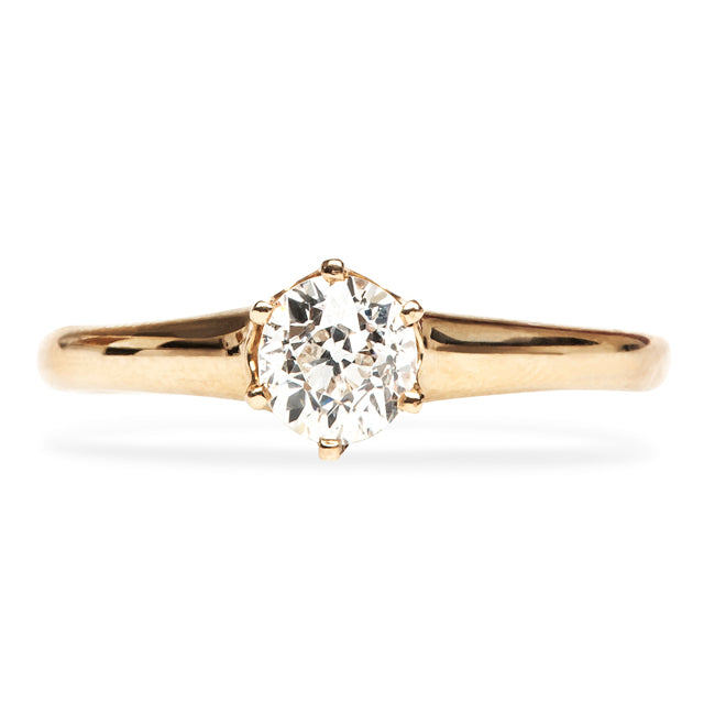 Vintage Gold Solitaire Engagement Ring
