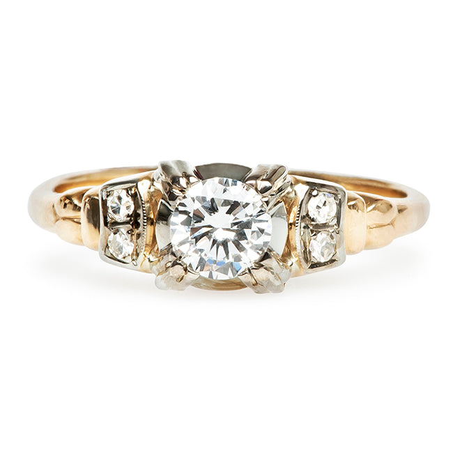 Vintage Inexpensive Gold Engagement Ring