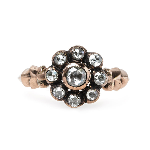 Vintage Inspired Halo Ring Reminiscent of Victorian Times | Stonebridge from Trumpet & Horn