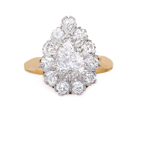 Meticulously Handcrafted Pear Shaped Diamond Ring with Halo | Wynnewood from Trumpet & Horn