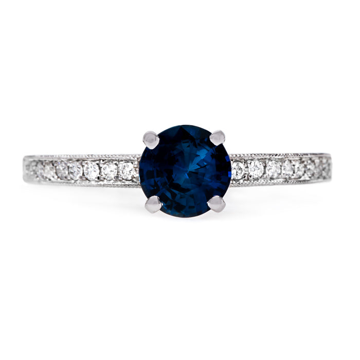 Sweet and Simple Sapphire Solitaire | Petunia from Trumpet & Horn