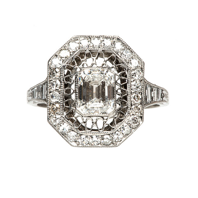 Unique Antique Style Diamond Ring | Wimbledon from Trumpet & Horn