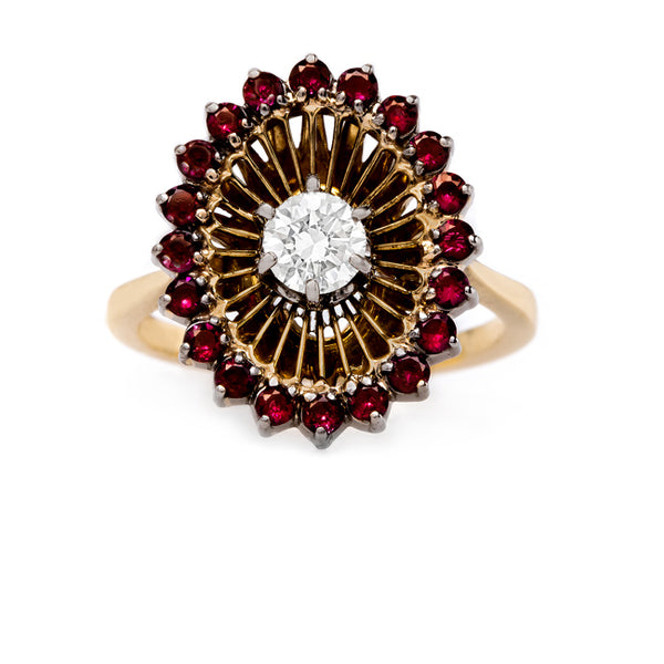 Fabulous and Whimsical Ruby and Diamond Cocktail Ring | Grenfall from Trumpet & Horn