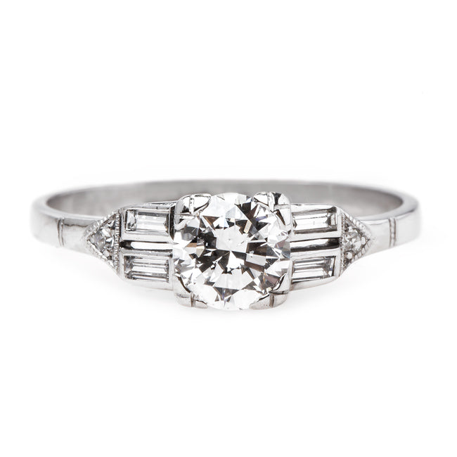Traditional Mid-Century Ring with White Diamond | High Point from Trumpet & Horn
