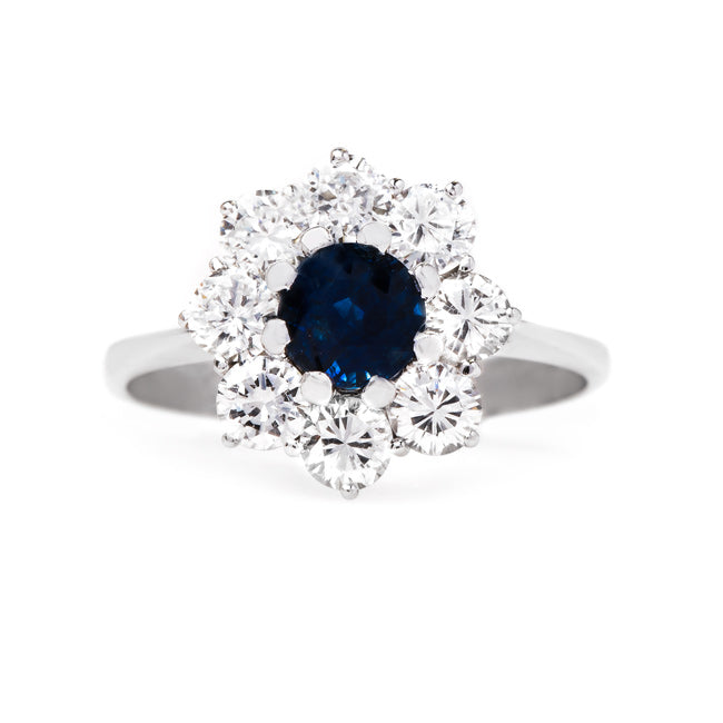 Glittering Mid-Century Sapphire Ring | Boxwood from Trumpet & Horn