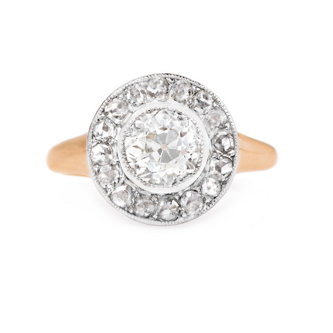 Antique Rose Cut and Old Mine Cut Diamond Cluster Ring | Tahoe from Trumpet & Horn