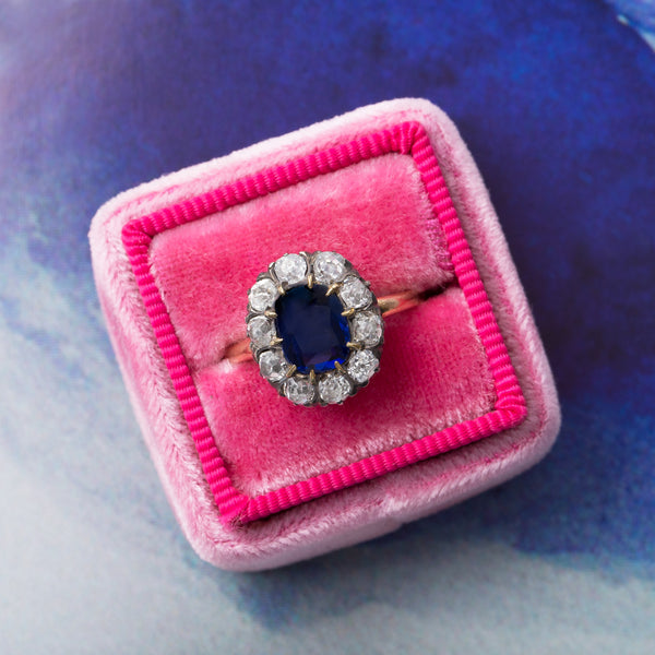 Exceptional Victorian Era Sapphire Ring | Edgevale from Trumpet & Horn