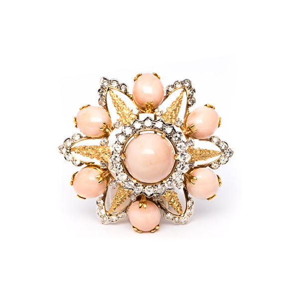 1960's Angel Skin Coral Brooch