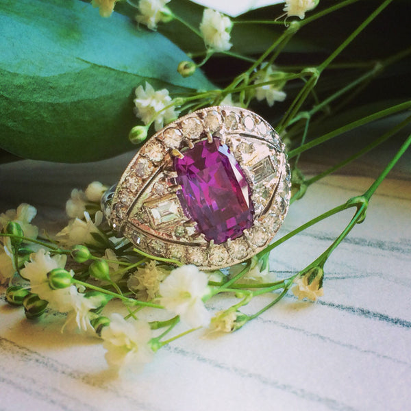 Modern Ruby Wedding Cocktail Ring | Pike Road from Trumpet & Horn
