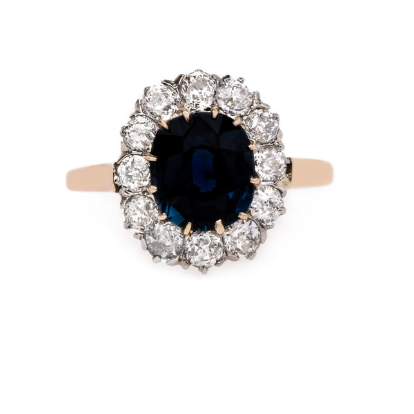 Early Edwardian Sapphire Ring with Deeply Saturated Stone | Casterton from Trumpet & Horn