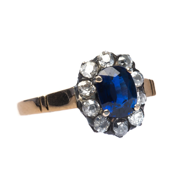 Palisades vintage sapphire and diamond ring from Trumpet & Horn